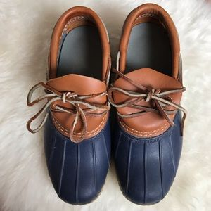 L.L. Bean 'Bean Boots' Navy and Brown Size 6